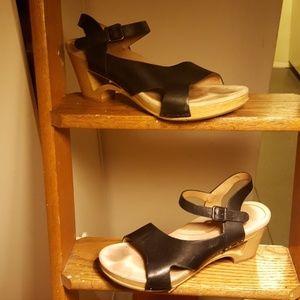 Dansko Leather Sandal Clogs
